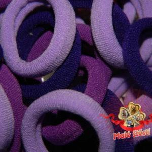 Froté gumička fialový mix, 10 ks