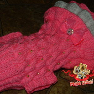 Šatičky sytě růžovobílé